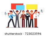 political agitator business men ... | Shutterstock .eps vector #723023596