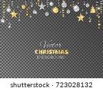 sparkling christmas glitter... | Shutterstock .eps vector #723028132