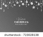 sparkling christmas glitter... | Shutterstock .eps vector #723028138