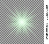 sunlight with lens flare effect ... | Shutterstock .eps vector #723030385