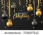 christmas background with... | Shutterstock .eps vector #723037312