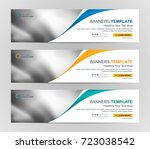 abstract web banner design... | Shutterstock .eps vector #723038542