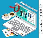 colored recruitment hiring hr...   Shutterstock .eps vector #723045376