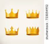 3d golden crown for king or... | Shutterstock .eps vector #723054952
