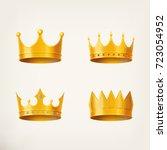 3d golden crown for king or... | Shutterstock .eps vector #723054952