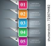 3d infographic design template... | Shutterstock .eps vector #723074482