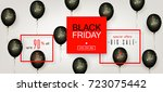 black friday sale. beautiful... | Shutterstock .eps vector #723075442