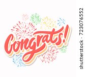 congrats  congratulations... | Shutterstock .eps vector #723076552