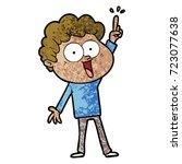 cartoon happy man | Shutterstock .eps vector #723077638