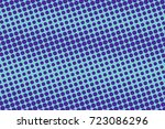 blue and cyan abstract halftone ... | Shutterstock .eps vector #723086296