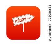 miami arrow post sign icon...   Shutterstock .eps vector #723086686