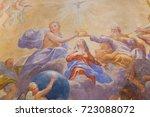san gimignano  italy   july 11  ...   Shutterstock . vector #723088072