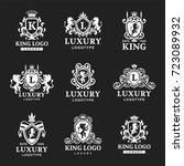 luxury boutique royal crest...   Shutterstock .eps vector #723089932