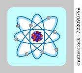 atom molecule concept... | Shutterstock .eps vector #723090796