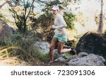 morning runner jogging in a... | Shutterstock . vector #723091306