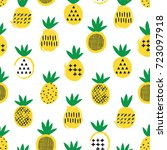pineapple seamless pattern. kid ... | Shutterstock .eps vector #723097918