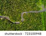 aerial view of amazon... | Shutterstock . vector #723100948