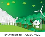 eco green city.environment... | Shutterstock .eps vector #723107422
