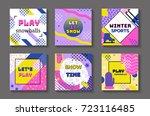 winter holidays geometric...   Shutterstock .eps vector #723116485