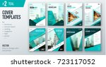 set of business cover design... | Shutterstock .eps vector #723117052