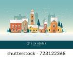 beautiful urban landscape or... | Shutterstock .eps vector #723122368
