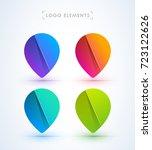 pointer logo collection. map... | Shutterstock .eps vector #723122626
