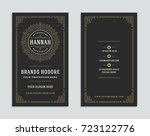 business card vintage ornament... | Shutterstock .eps vector #723122776