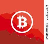 bitcoin price fall. crypto... | Shutterstock .eps vector #723122875