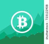 bitcoin price growth. crypto... | Shutterstock .eps vector #723122908