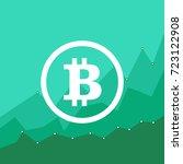 bitcoin price growth. crypto... | Shutterstock .eps vector #723122908
