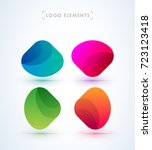 vector abstract logo elements.... | Shutterstock .eps vector #723123418