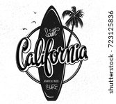 california surfing artwork  t... | Shutterstock .eps vector #723125836