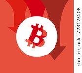 bitcoin price fall. crypto... | Shutterstock .eps vector #723126508