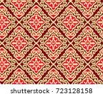 seamless tribal pattern. | Shutterstock . vector #723128158
