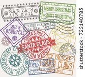 Santa Claus Post Stamp Merry...