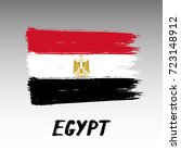 flag of egypt   grunge | Shutterstock .eps vector #723148912