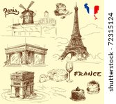 France Original Hand Drawn...