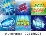 set of 6 high quality laundry...   Shutterstock .eps vector #723158275