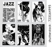 poster set for the jazz... | Shutterstock .eps vector #723164995