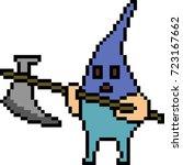 vector pixel art monster... | Shutterstock .eps vector #723167662