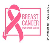 pink ribbon  breast cancer... | Shutterstock . vector #723168712