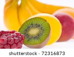 fresh fruits close up | Shutterstock . vector #72316873
