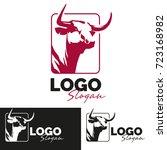 beef logo template | Shutterstock .eps vector #723168982