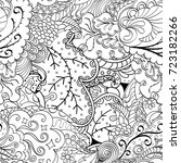 tracery seamless pattern.... | Shutterstock .eps vector #723182266