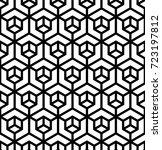 vector seamless pattern. modern ... | Shutterstock .eps vector #723197812