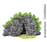 entrance rock nature stone cave ...   Shutterstock .eps vector #723200362