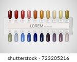 tips. set of false nails for... | Shutterstock .eps vector #723205216