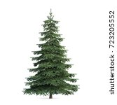 Stock photo fir tree isolated d illustration 723205552