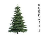 fir tree isolated  3d... | Shutterstock . vector #723205552