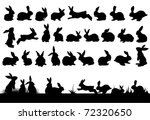 Rabbit Silhouettes For Easter...